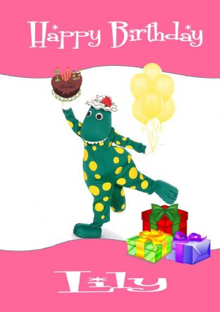 Personalised Dorothy the Dinosaur Birthday Card Design 2